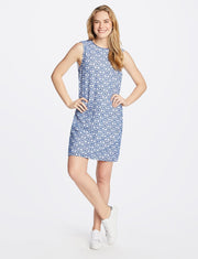 Draper James - Eyelet Shift Dress - Sea Blue