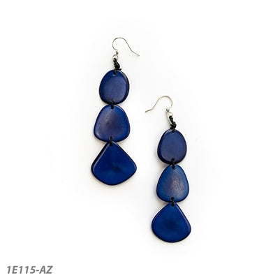 Tagua Bali Earrings - Azul