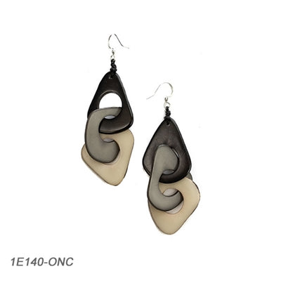 Tagua - Vero Earrings Onyx Combo
