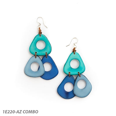 Tagua - Lucia Earrings Azul Combo