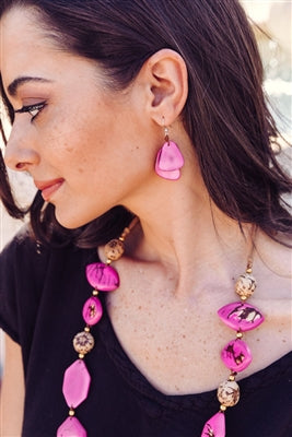 Tagua - Fiesta Earrings Fucshia