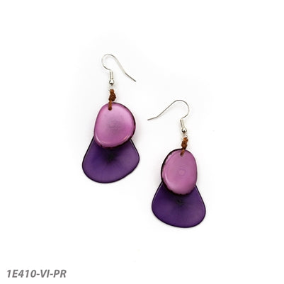 Tagua - Fiesta Earrings Violet/Purple