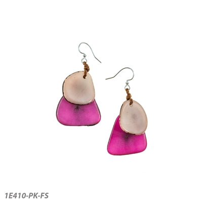 Tagua - Fiesta Earrings Pink/Fuchsia
