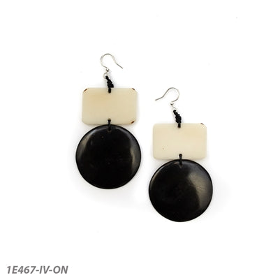 Tagua - Tumes Earrings Ivory/Onyx