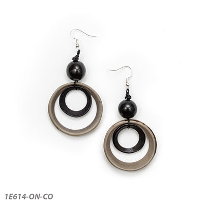 Tagua - Nadia Earrings Onyx/Char