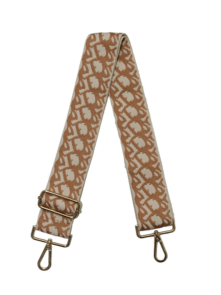 "Ahdorned - Cream w/Camel Print 2"" Strap"