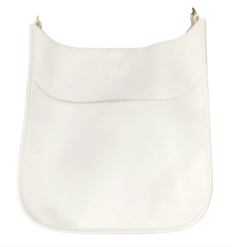 Ahdorned-Vegan Leather Classic Size Bag (No Strap) -White w/Gold Hrdwr