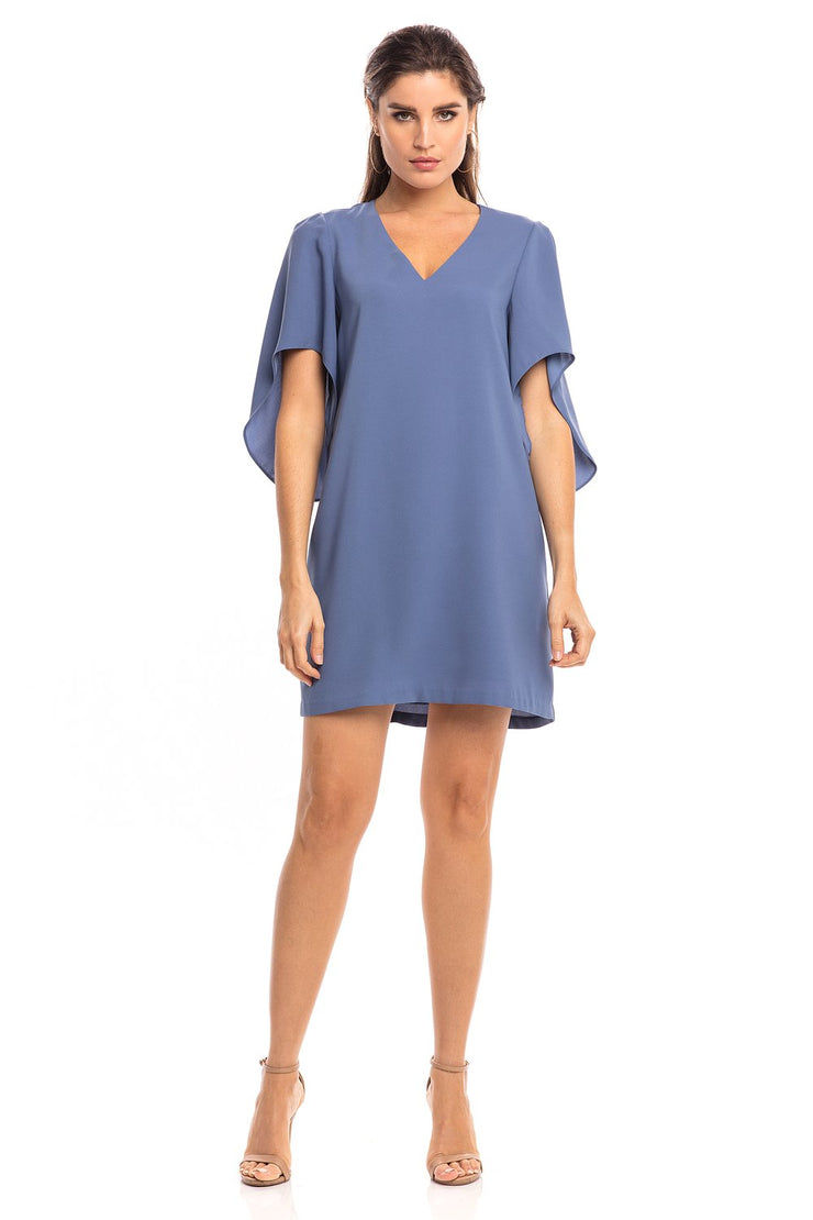 Anna Cate - Meredith S/S Dress - Coastal Blue