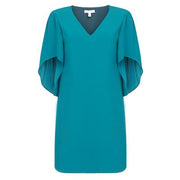 Anna Cate - Meredith S/S Velvet Dress - Deep Lagoon