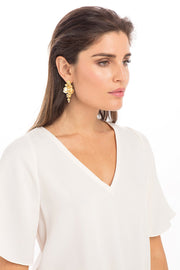 Anna Cate - Camille Long Earring - Gold