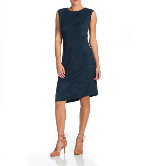 MAAC London - AXE Slvls Washable Suede Dress w Cross Stitching