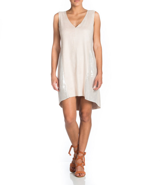 MAAC London - BARRACK Washable Suede VNeck Dress