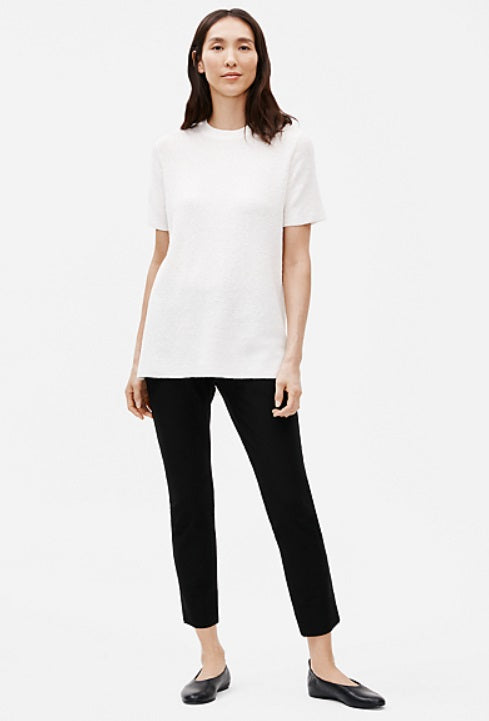 Eileen Fisher - SLIM CROPPED PANT W/ SIDE SLITS - INK