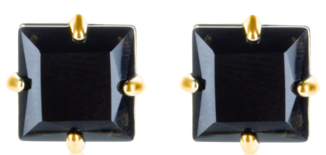 Maria Dolores - Square post earrings - Onyx