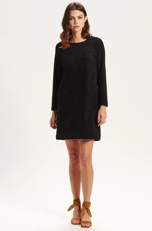 Marie Oliver - L/S Washable Suede Dress