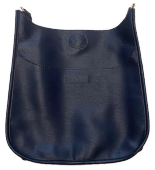 Ahdorned - Faux Leather Classic Size Messenger (NO STRAP) - Navy