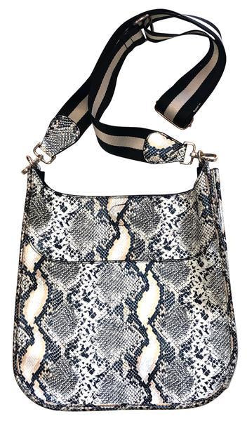 Ahdorned - Faux Python Messenger w Adjustable Strap