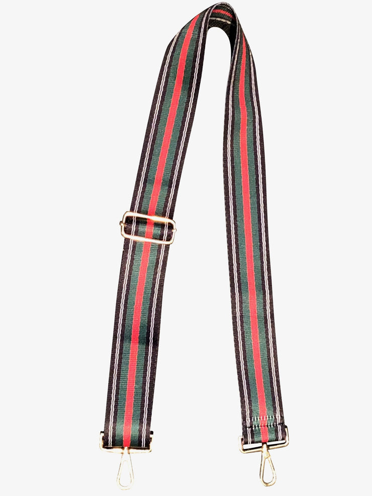 Ahdorned - Adjustable Bag Strap - Blue/Green/Red Stripe