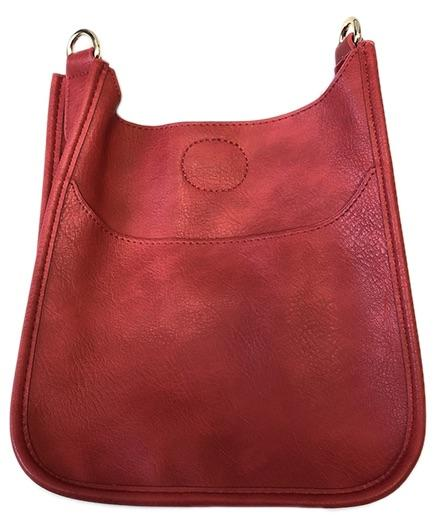 Ahdorned - Mini Vegan Messenger - No Strap Red