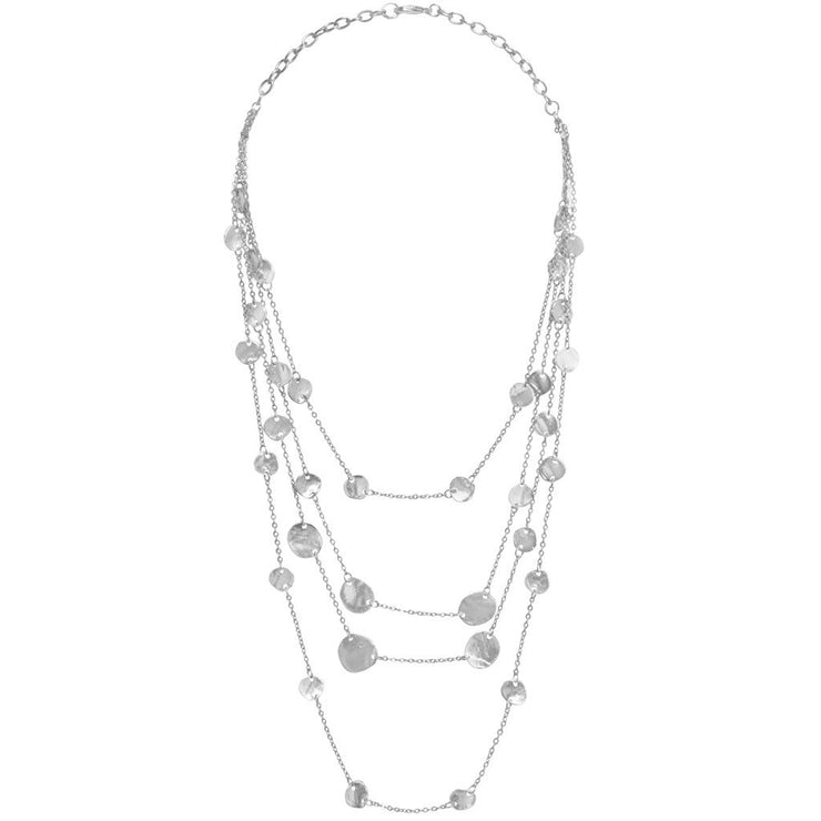 Karine Sultan - Manon Layered Necklace Silver