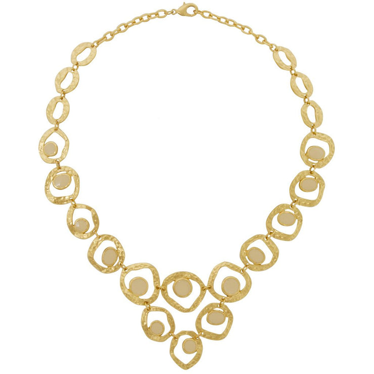 Karine Sultan - Circles Triangular Necklace