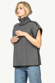 Lilla P - Reversible Poncho Charcoal/Black