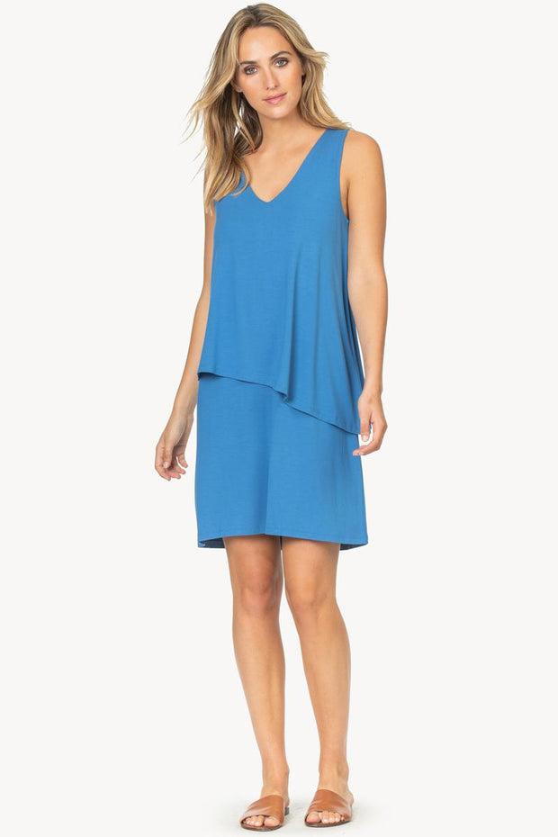 Lilla P - Double Layer V-Neck Dress : Marlin