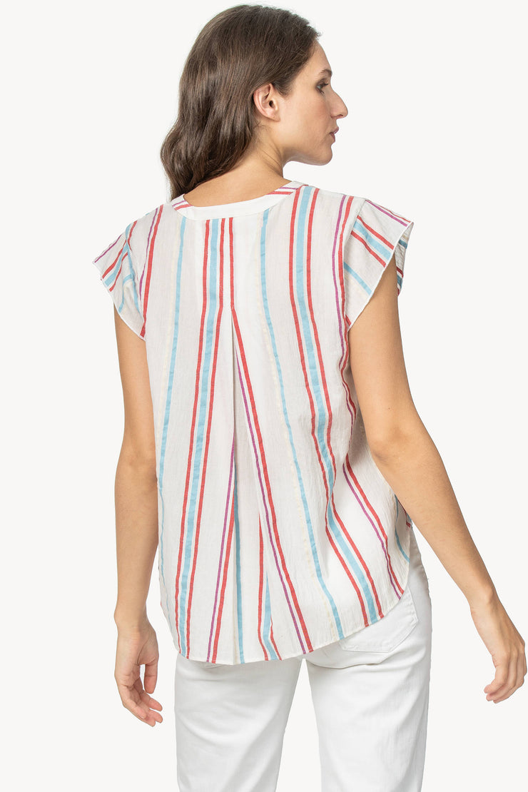 Lilla P - S/Sleeve Button Down Stripe