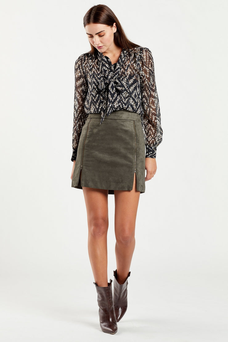 Marie Oliver - Lauren Mixed Animal Print Blouse