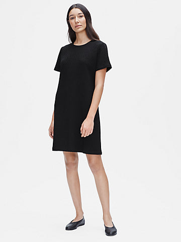 EF - S/S Honeycomb Dress Black