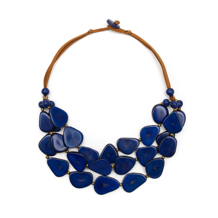 Tagua - Alma Necklace Royal Blue