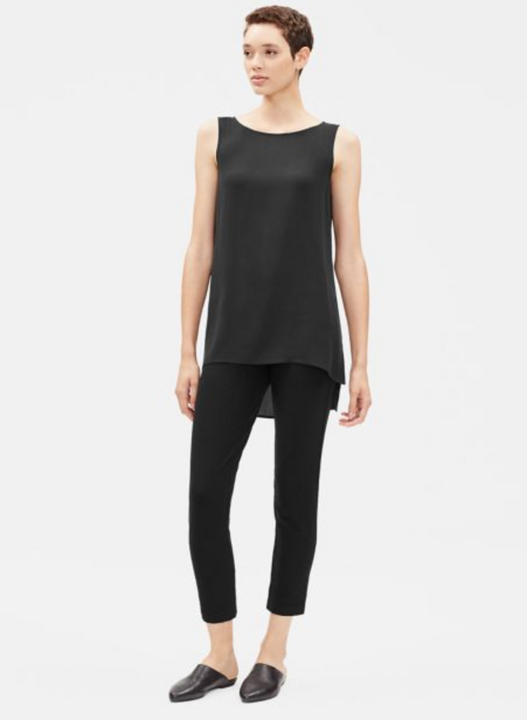Eileen Fisher Washable Stretch Crepe Slim Ankle Pant
