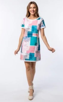 Tyler Boe Emily Ctn Block Print Dress
