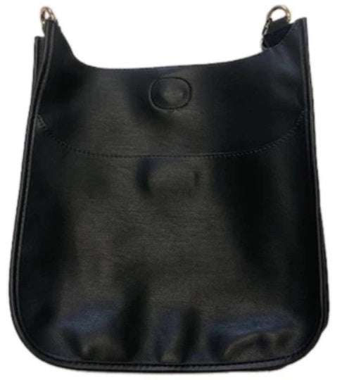 Ahdorned-Faux Soft Leather Classic Size Bag (NO STRAP) - Blk (Gold Hrdwr)