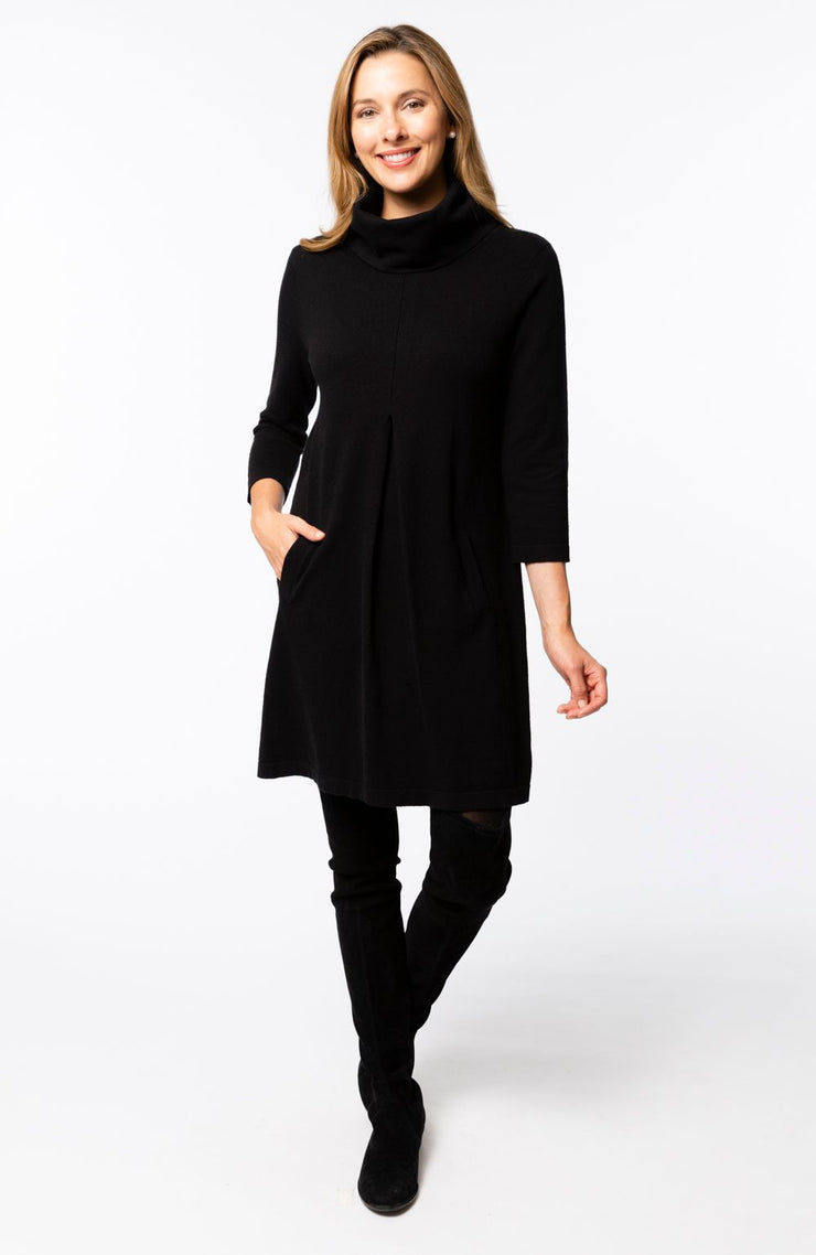 Tyler Boe - Kim Cttn/Cashmere Dress Black
