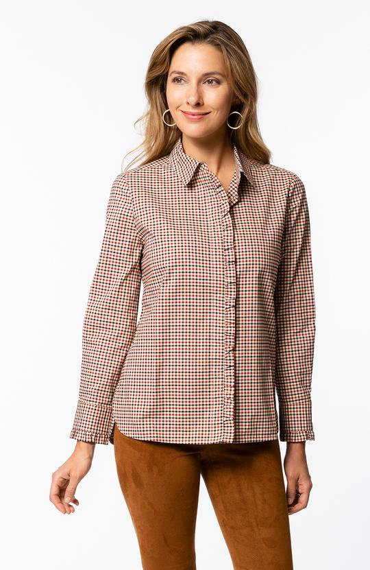 Tyler Boe - Wyatt Barnaby Plaid Tunic Pomegranate