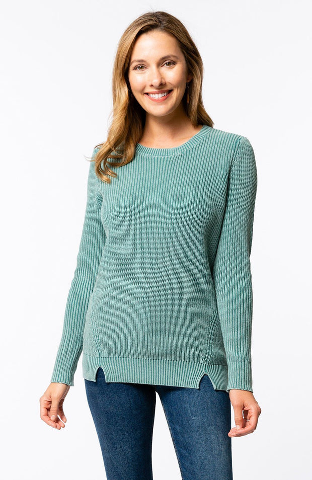 Tyler Boe - Mineral Wash Shaker Sweater Teal