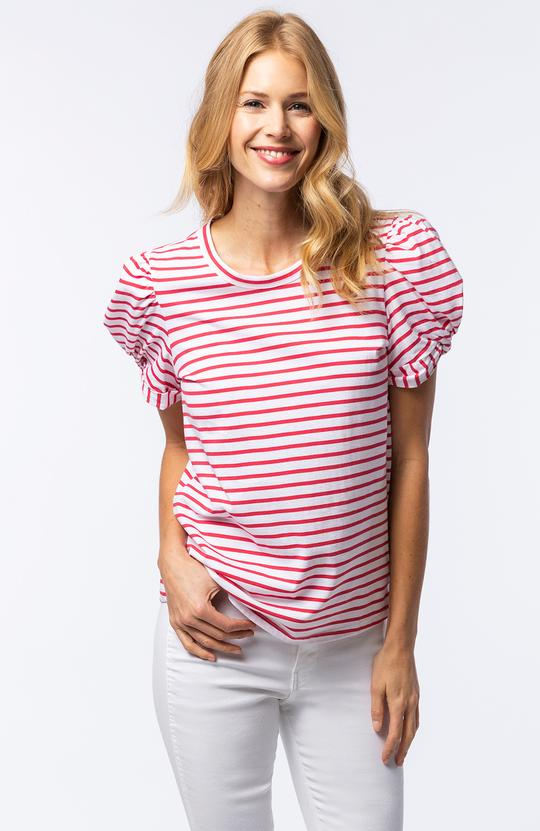 Tyler Boe - Striped Knot Tee - Red/Wht