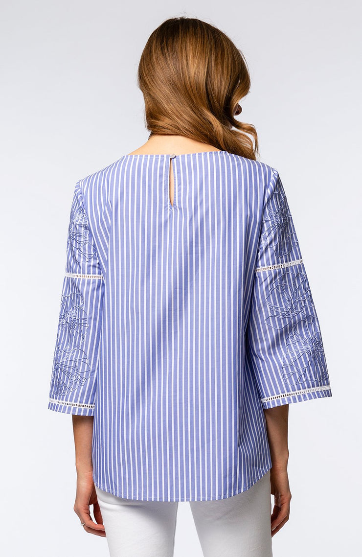 Tyler Boe Embroidered Sleeve Tunic