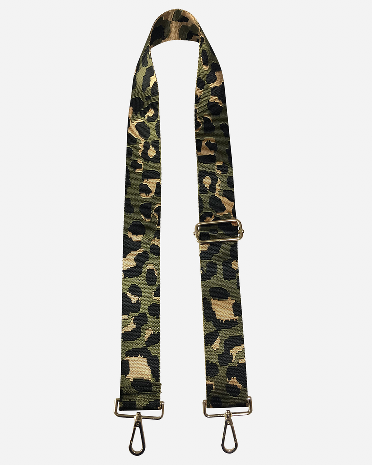 Ahdorned - Adjustable Bag Strap - Army/Black Leopard