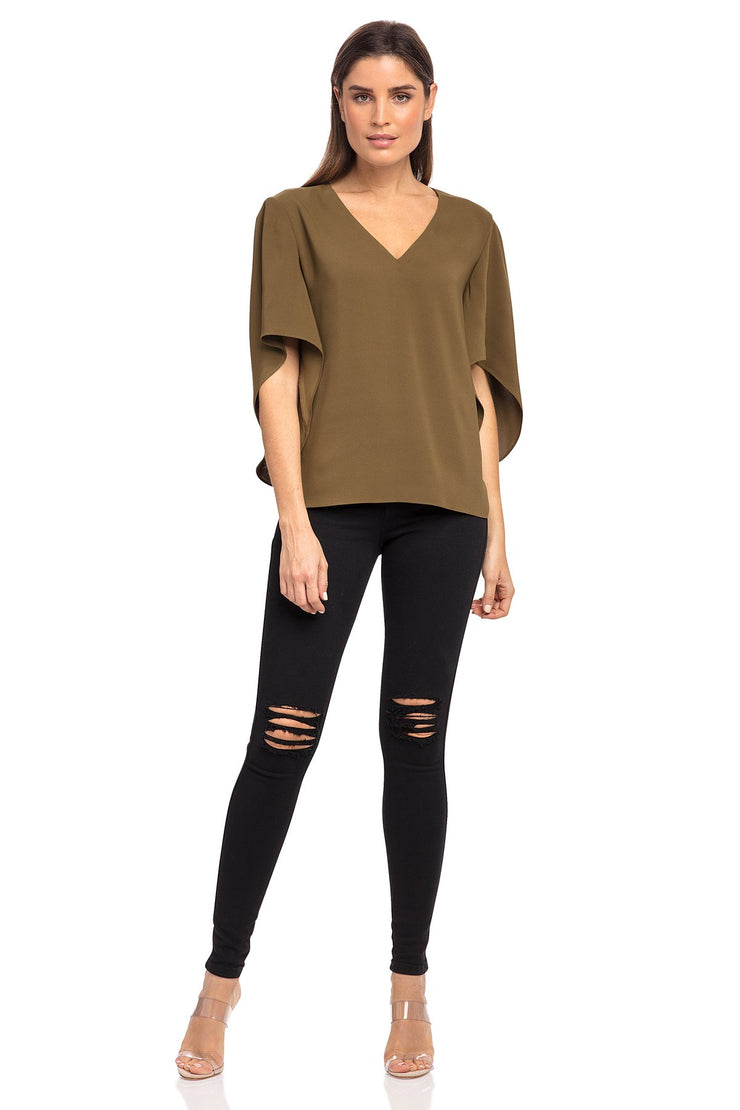Anna Cate Nina S/S Top - Olive