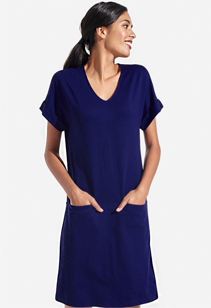 Persifor - Solid Bamsie Dress Admiral Blue