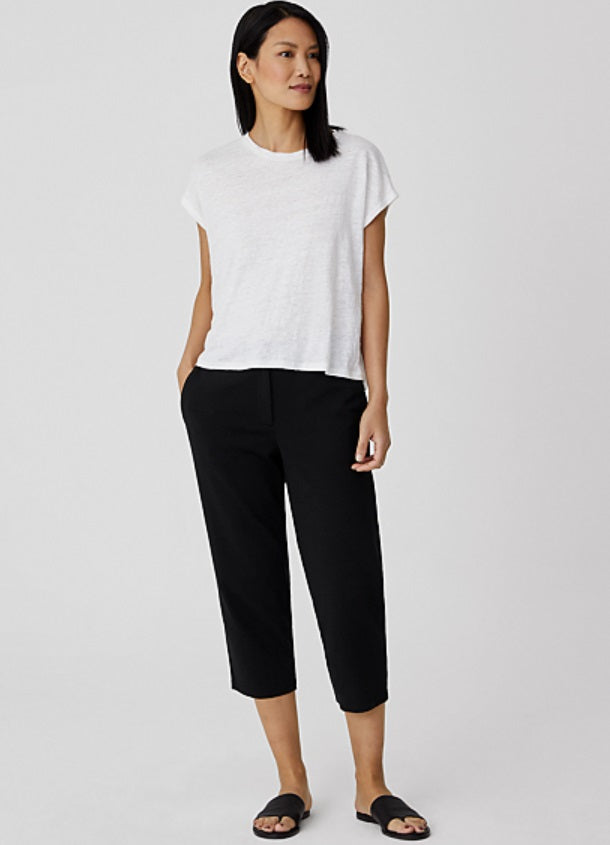 Eileen Fisher - Cotton Ponte Tapered Capri Pant