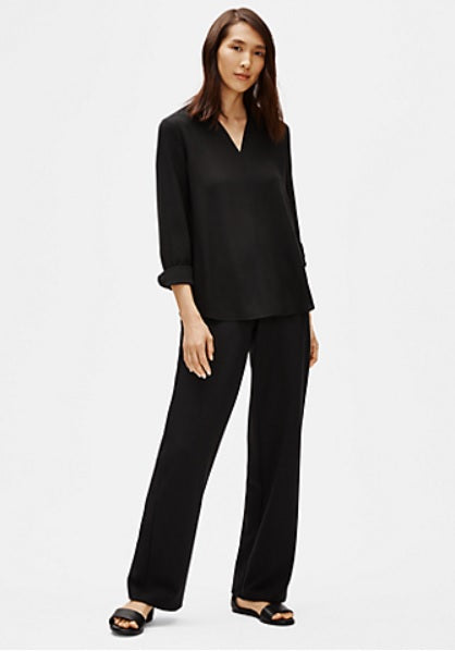 Straight Eileen Fisher Pant Black