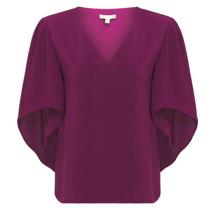 Anna Cate - Nina S/S Top - Wine
