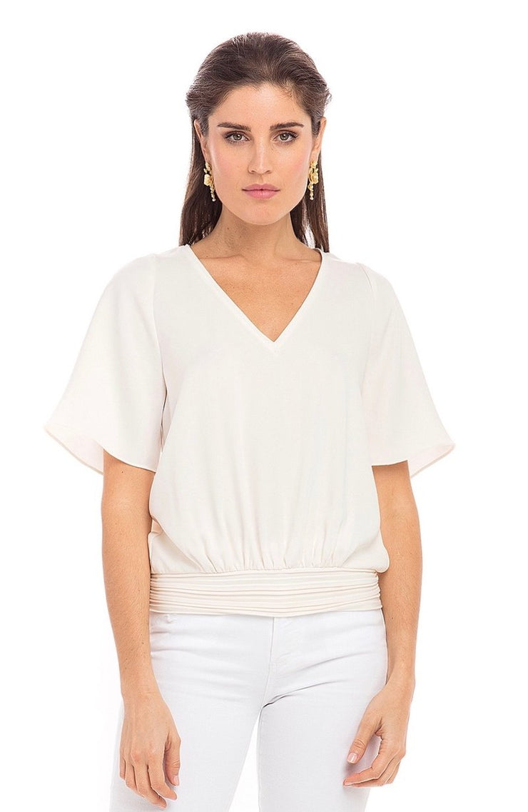 Anna Cate - S/S VNk Ava Top - Cream