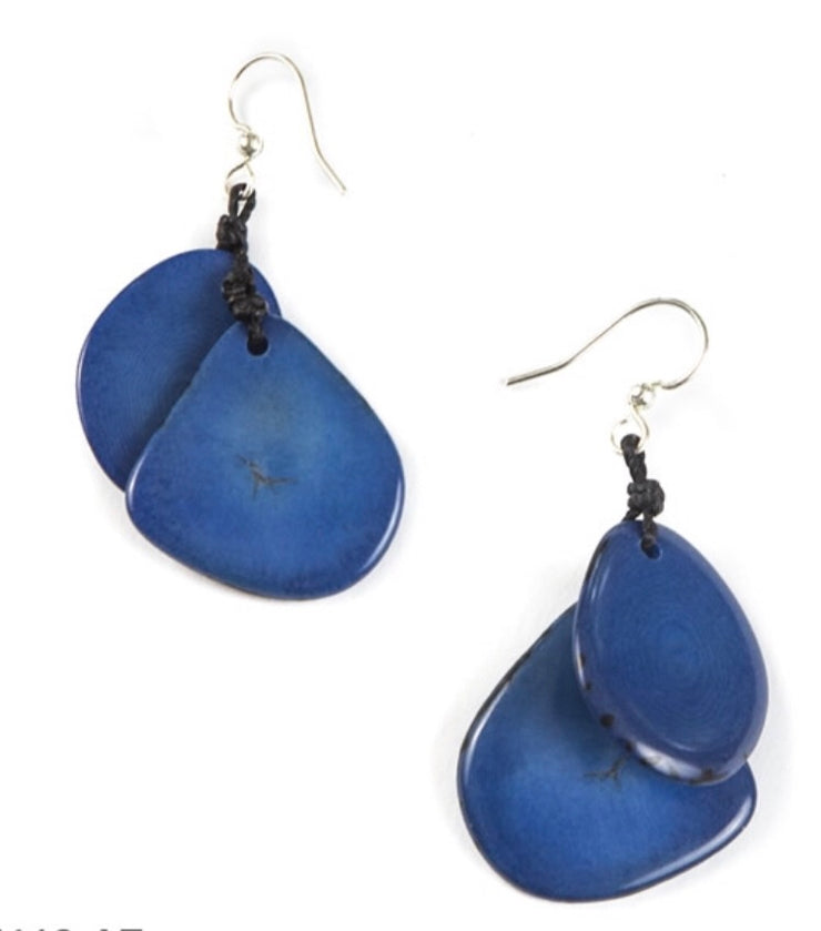 Tagua - Fiesta Earrings Azul Blue