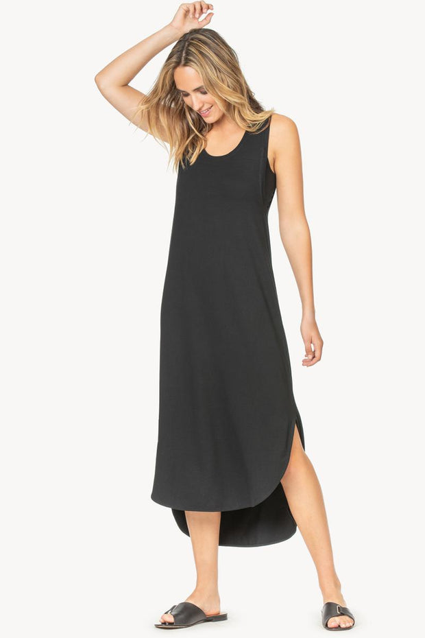 Lilla P -Easy Long Tank Dress : Black