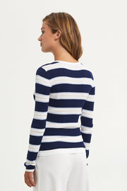 Marie Oliver - L/S Stripe Knit Tee