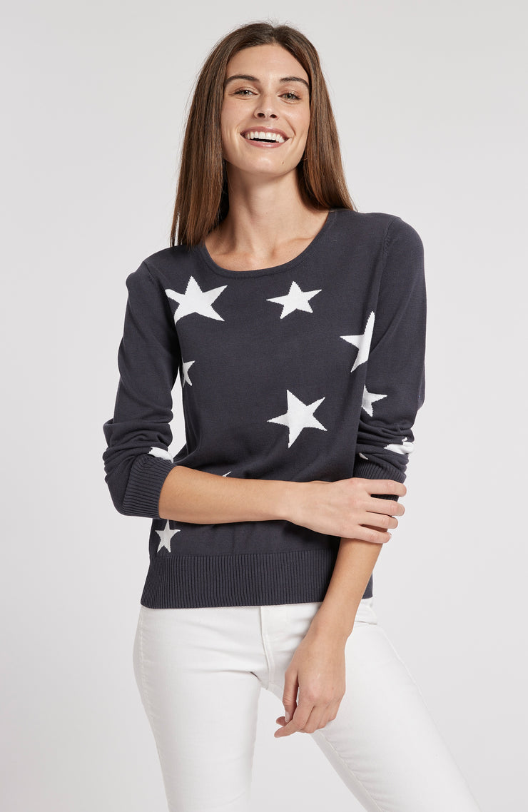 Tyler Boe - Star Entarsia Sweater Navy